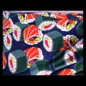Sushi print one size leggings
